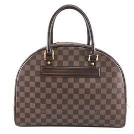 Louis Vuitton-Louis Vuitton Nolita Damier Ébène Toile-Marron