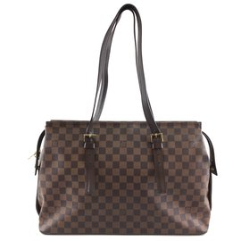 Louis Vuitton-Toile Louis Vuitton Chelsea Damier Ébène-Marron
