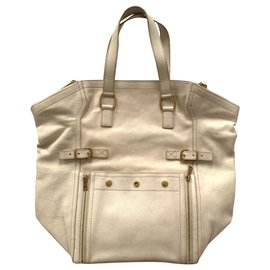 Yves Saint Laurent-Large Downtown tote bag-White