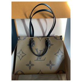 Louis Vuitton-Louis Vuitton Onthego MM Bag Monogram Reverse Canvas-Brown