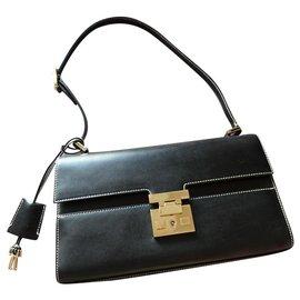 Gucci-Gucci Vintage Lady Lock Shoulder Bag-Black