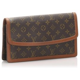 Louis Vuitton-Louis Vuitton Brown Monogram Pochette Dame GM-Brown