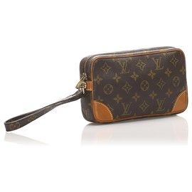 Louis Vuitton-Louis Vuitton Brown Monogram Marly Dragonne PM-Brown