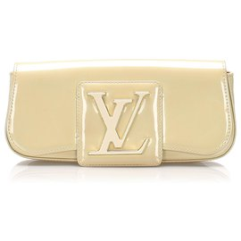 Louis Vuitton-Louis Vuitton Brown Sobe Clutch Bag-Brown,Beige