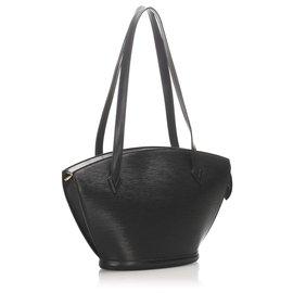 Louis Vuitton-Louis Vuitton Black Epi Saint Jacques Long Strap PM-Black