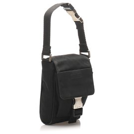 Prada-Prada Black Tessuto Belt Bag-Black