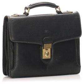 Balenciaga-Balenciaga Black Leather Briefcase-Black