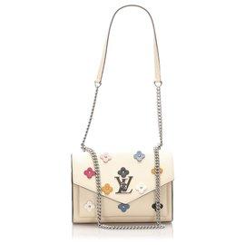 Louis Vuitton-Louis Vuitton Brown MyLockMe Fleurs BB-Brown,Multiple colors,Beige