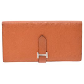 Hermès-Portefeuille Hermes-Orange