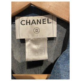 Chanel-Jackets-Silvery,Blue
