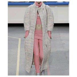 Chanel-Chanel Supermarket Runway Pink Metallic Viscose Pant Suit Sz 36-Pink