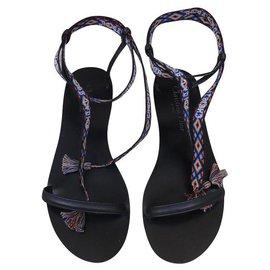 Dior-Des sandales-Noir,Multicolore