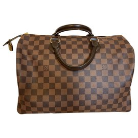 Louis Vuitton-Louis Vuitton Speedy 35 damier ebene-Brown