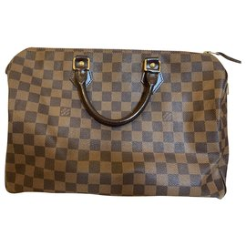 Louis Vuitton-Louis Vuitton Speedy 35 Ebene Damier Bag-Brown