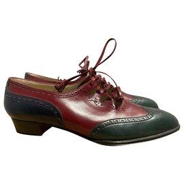 Hermès-Ballerines-Rouge,Vert
