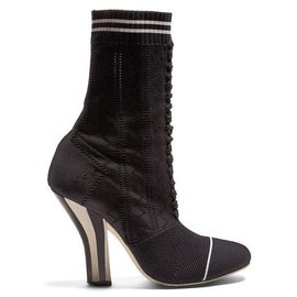 Fendi-Freedom Mules-Black,White