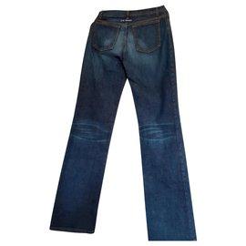Jean Paul Gaultier-Un pantalon, leggings-Bleu