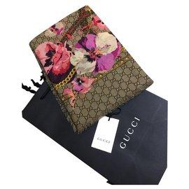 Gucci-ÉCHARPE GUCCI NOUVEAU-Beige,Fuschia