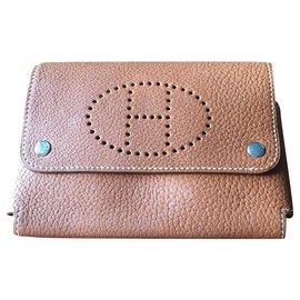 Hermès-Card or glasses case-Caramel