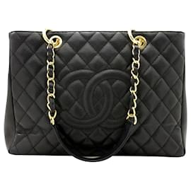 Chanel-TPS Chanel (sac shopping grand shopping)-Noir