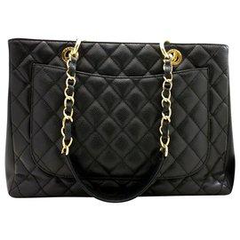 Chanel-Chanel GST (grand shopping tote)-Black
