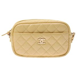 Chanel-Sac bandoulière Chanel Mini Matrasse Chain-Jaune