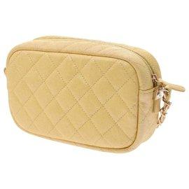 Chanel-Chanel Mini Matrasse Chain Shoulder Bag-Yellow