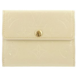 Louis Vuitton-Louis Vuitton White Vernis Ludlow Coin Pouch-White