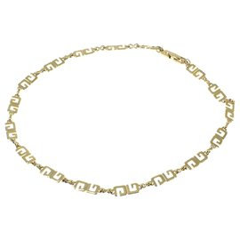 Givenchy-Givenchy Gold lined G Link Necklace-Golden
