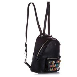 Fendi-Fendi Black Mini Studded By The Way Backpack-Black,Multiple colors