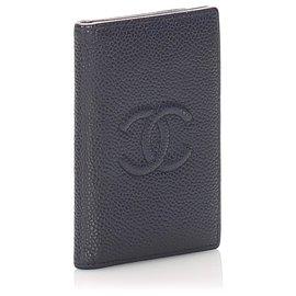 Chanel-Chanel Black CC Caviar Card Holder-Black