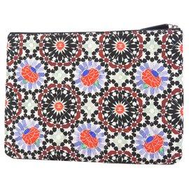 Chanel-Chanel Multi Christmas Canvas Clutch Bag-Multiple colors