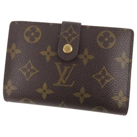Louis Vuitton-Louis Vuitton Brown Monogram Porte Monnaie Billets Viennois-Brown