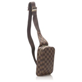 Louis Vuitton-Louis Vuitton Brown Damier Ebene Geronimos-Brown