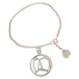 Hermès-Bracelet étrier en argent Hermès-Argenté