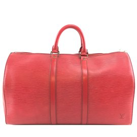 Louis Vuitton-Louis Vuitton Keepall 50 Red epi leather-Red