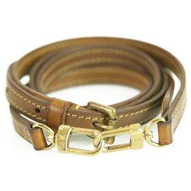 Louis Vuitton-Louis Vuitton Adjustable Leather Shoulder Vachetta leather Strap 12 MM VVN-Beige
