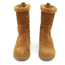 Louis Vuitton-camel suede fur fr37 New-Caramel
