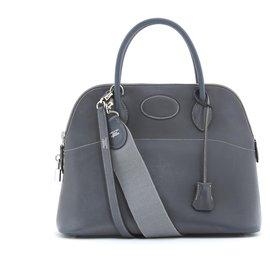 Hermès-BOLIDE BUGATTI 32 GRAY 2 STRAPS-Grey