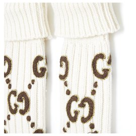 Gucci-GG GOLDEN WOOL M NEW IN BOX-Cream