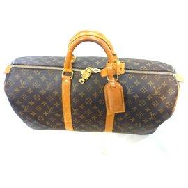 Louis Vuitton-keepall 50 Monogram-Brown