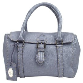 Fendi-Fendi Purple Mini Selleria Linda Leather Handbag-Purple
