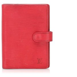 Louis Vuitton-Louis Vuitton Red Epi Agenda-Red