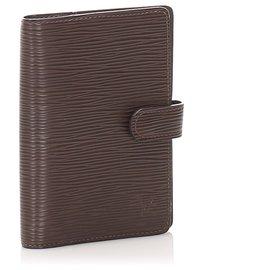 Louis Vuitton-Louis Vuitton Brown Epi Agenda PM-Brown