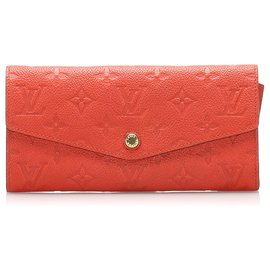 Louis Vuitton-Louis Vuitton Orange Monogram Empreinte Curieuse Long Wallet-Orange