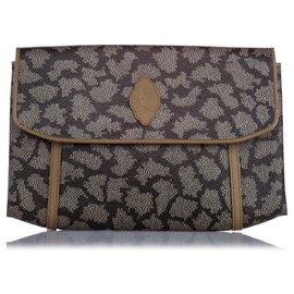 Yves Saint Laurent-YSL Gray Printed Flap Clutch Bag-Multiple colors,Grey