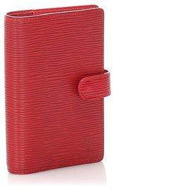 Louis Vuitton-Louis Vuitton Red Epi Agenda PM-Red