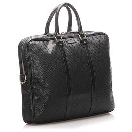 Gucci-Gucci Black Diamante Bright Briefcase-Black