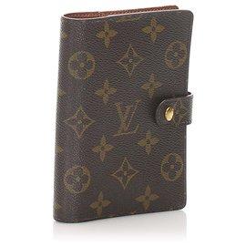 Louis Vuitton-Louis Vuitton Brown Monogram Agenda PM-Brown