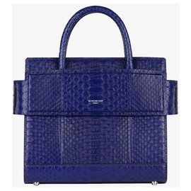 Givenchy-GIVENCHY New blue python HORIZON bag PM-Blue